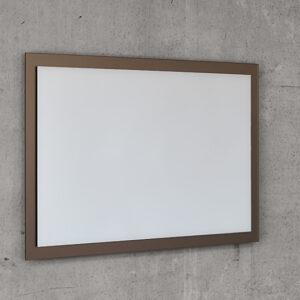 Et bronze ramme spejl til badeværelset