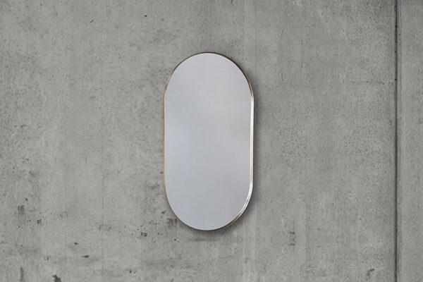 Ovalt Messing Spejl